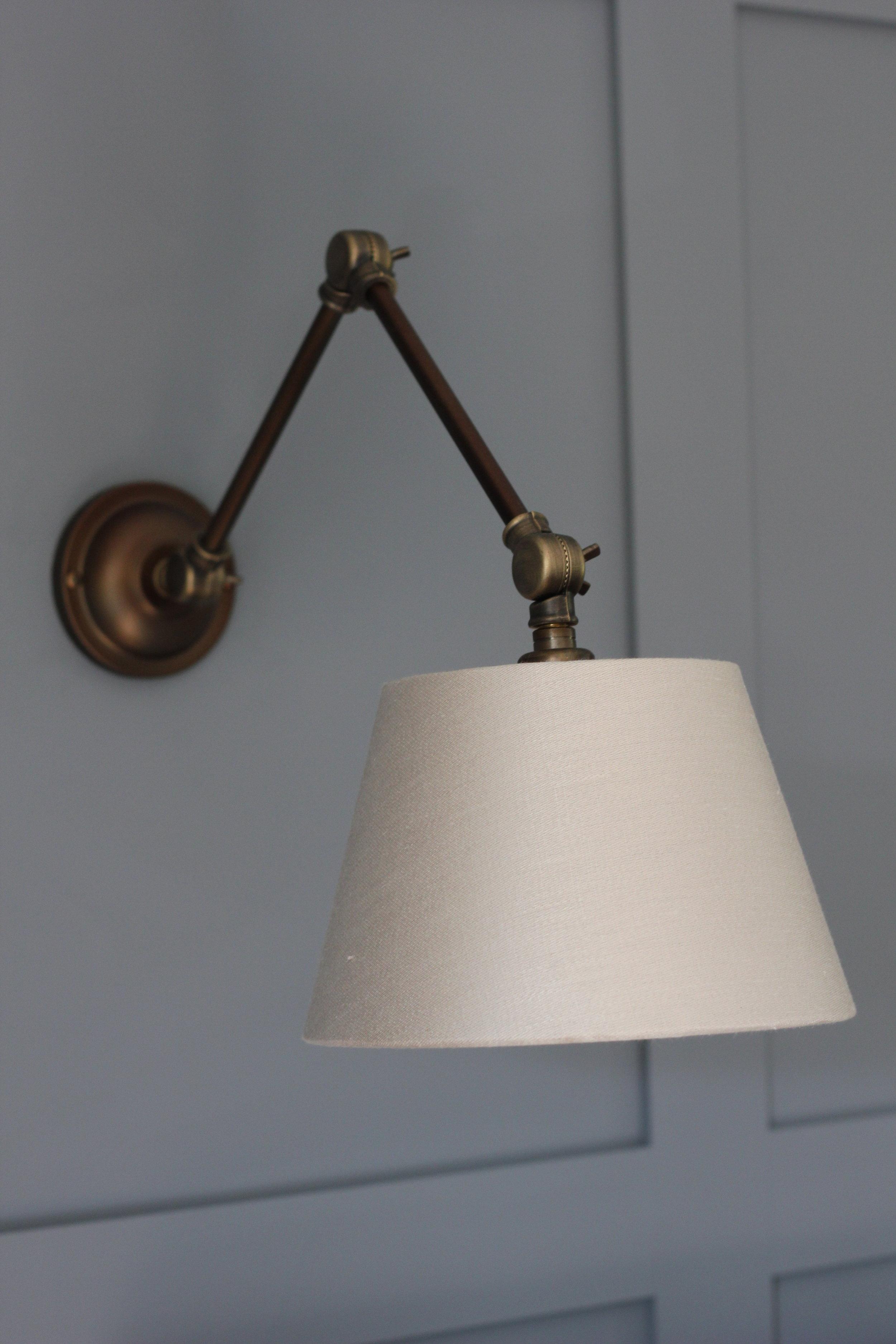 Hoxton - Antique Brass  Outer Shade - Linen  Inner Shade - Bronze Metallic