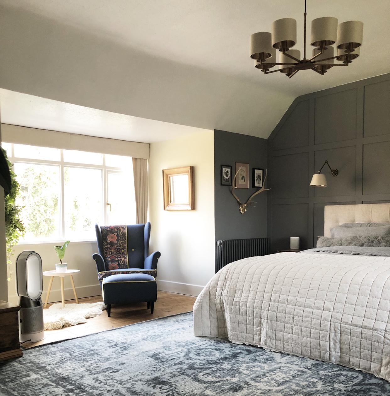 Zoffany - Pewter  Sanderson- Oyster White