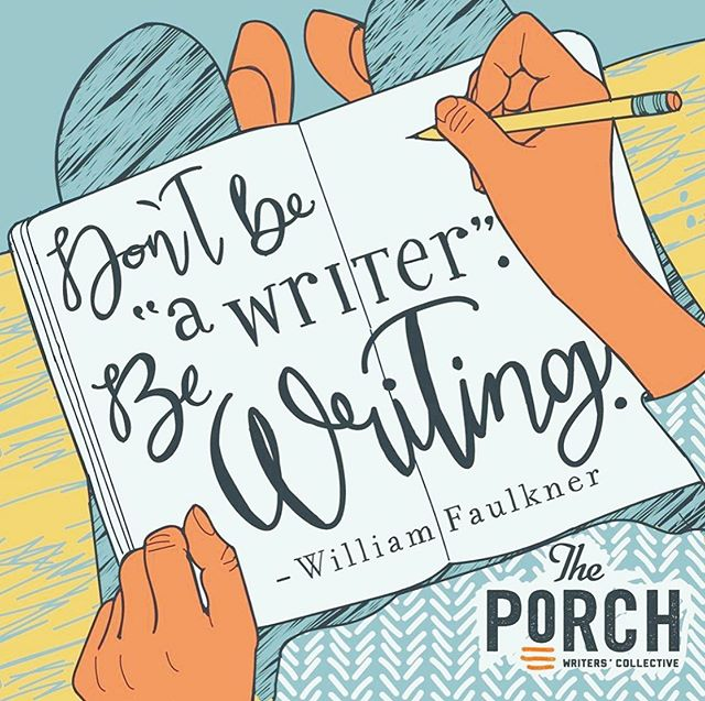 I just renewed my membership to The Porch! C'mon and join me in all the fun and creating and cool peeps that come with being a part of this community. Go to porchtn.org/join so you and I can do awesome writerly and bookish things together! 💖 @porchtn