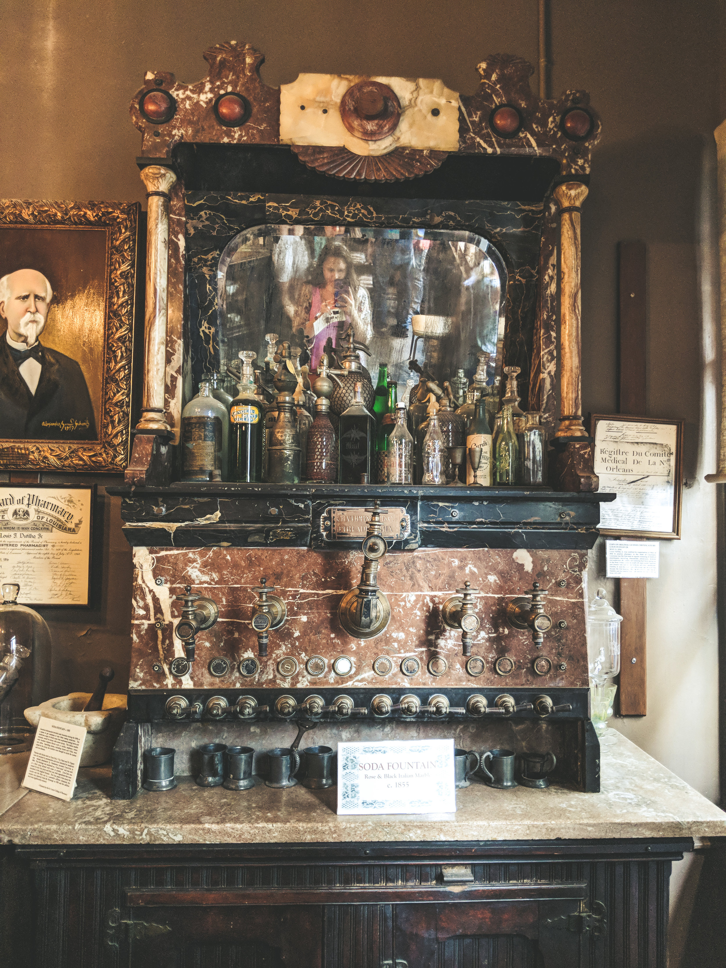 A glimpse inside the pharmacy museum.