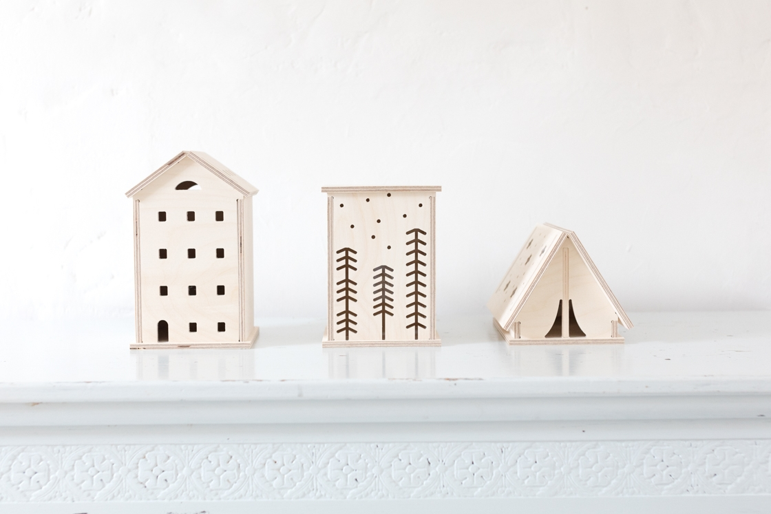 Bright Corner design and make wooden LED night lights, to add a warm, cosy light to that neglected corner of your home