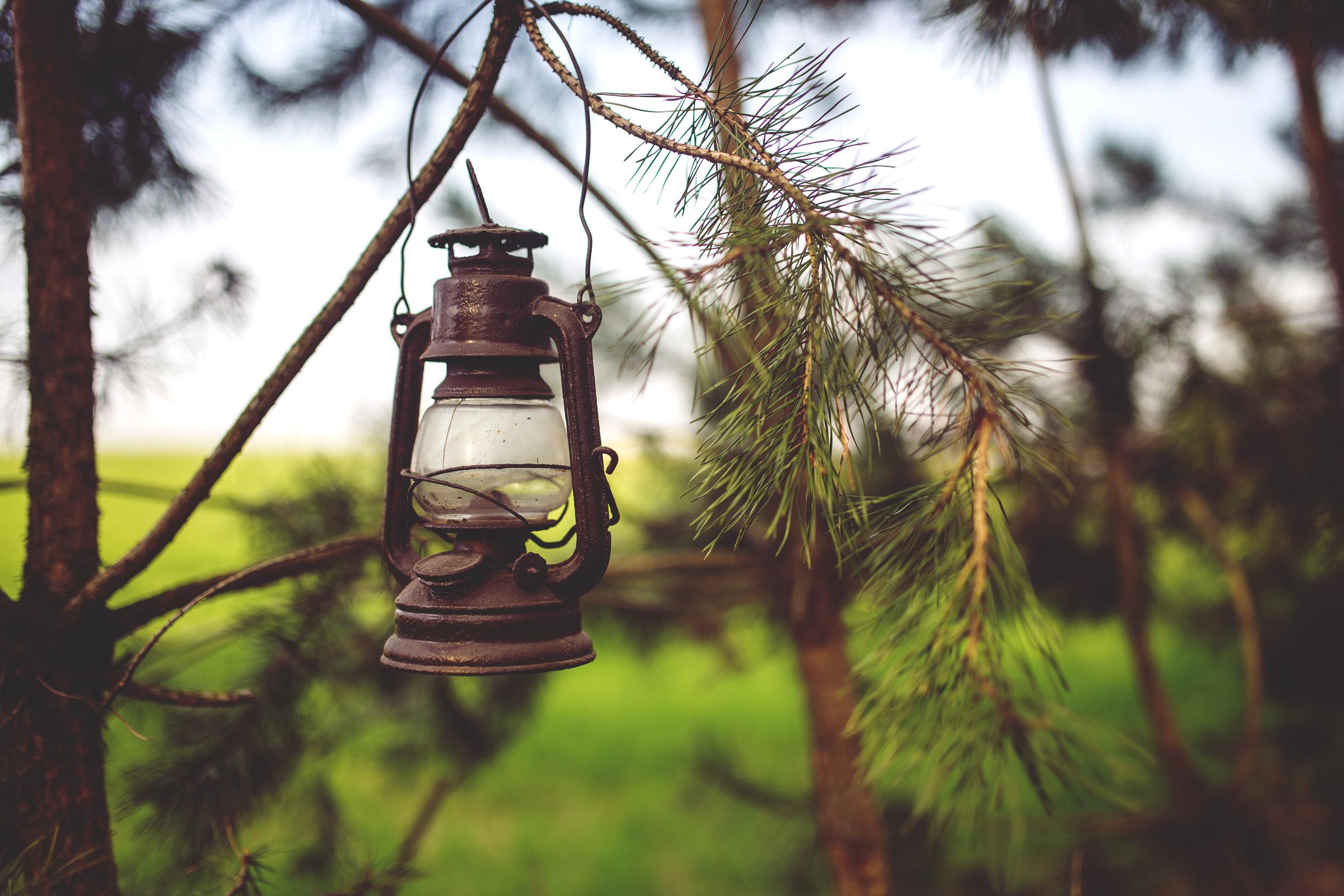 Rustic Oil Lamp
