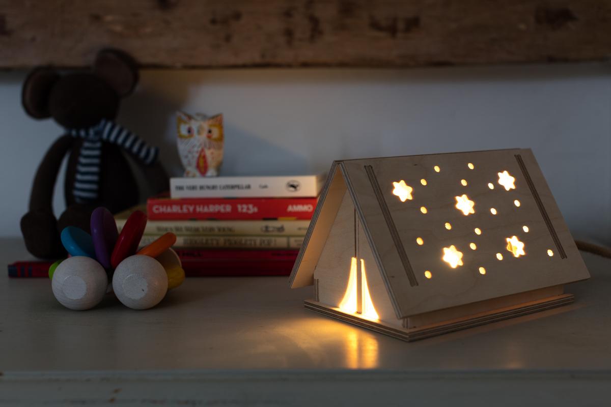 Star Tent LED Wooden Light