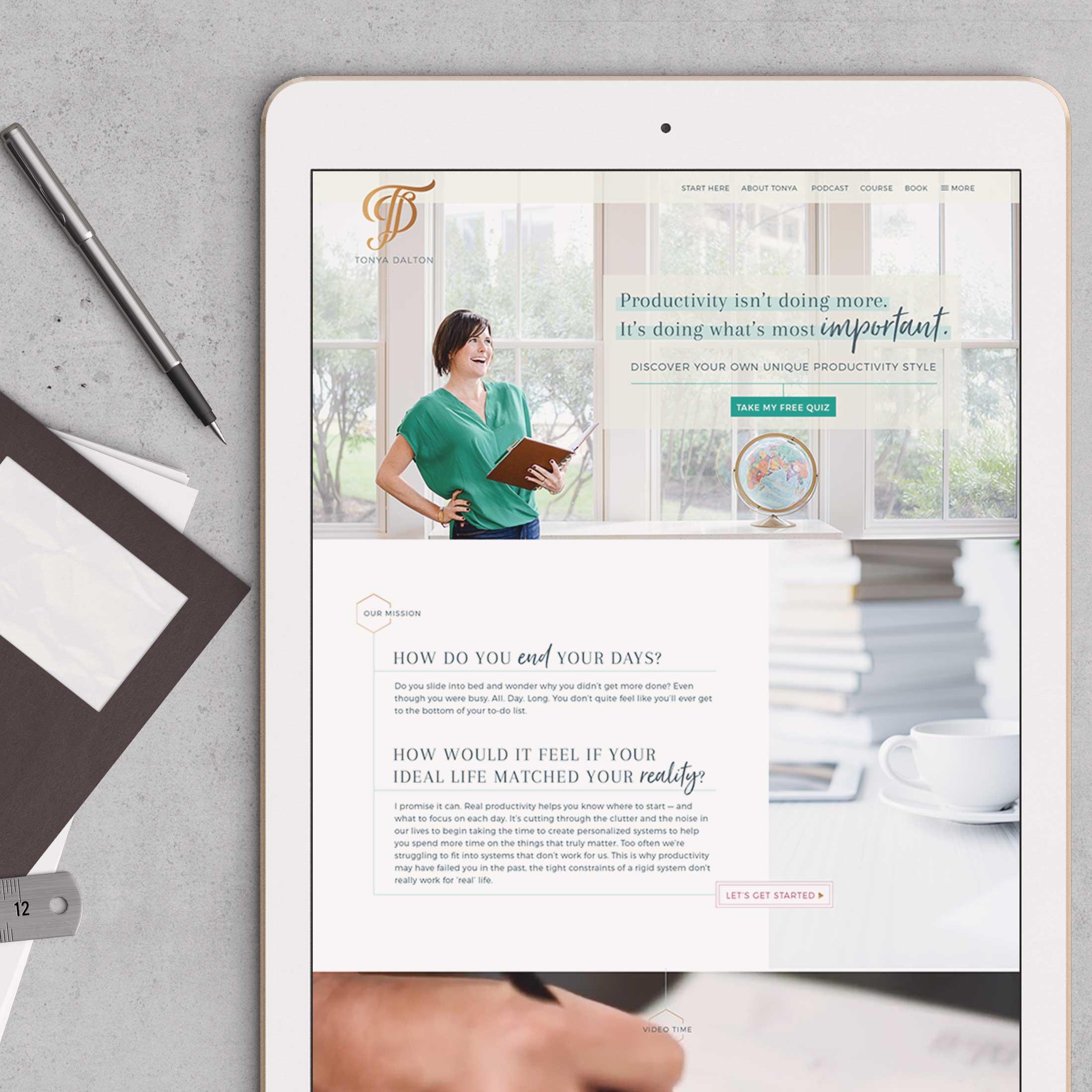 Tonya Dalton •  website design