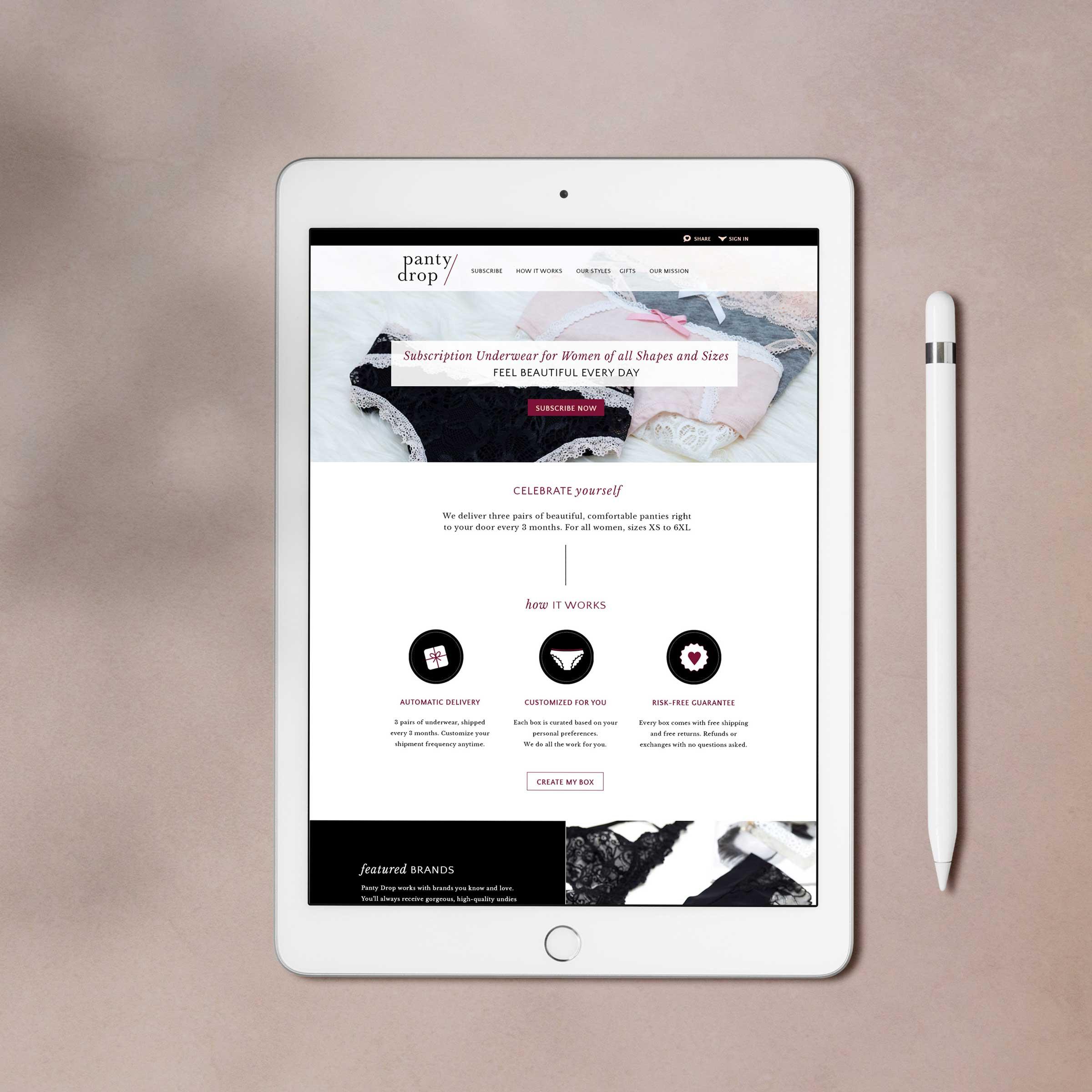 Panty Drop • subscription service site
