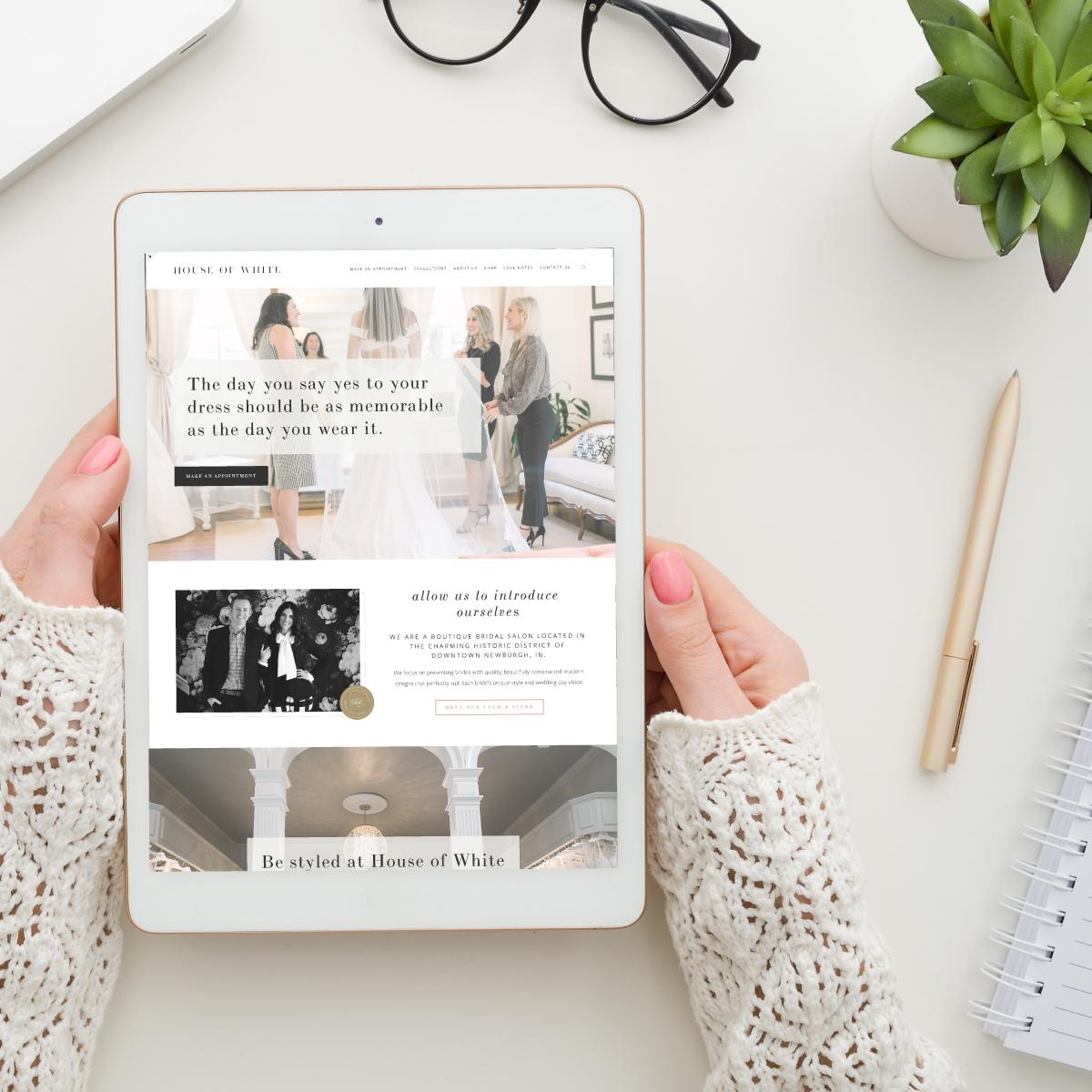 House of White Bridal • website design