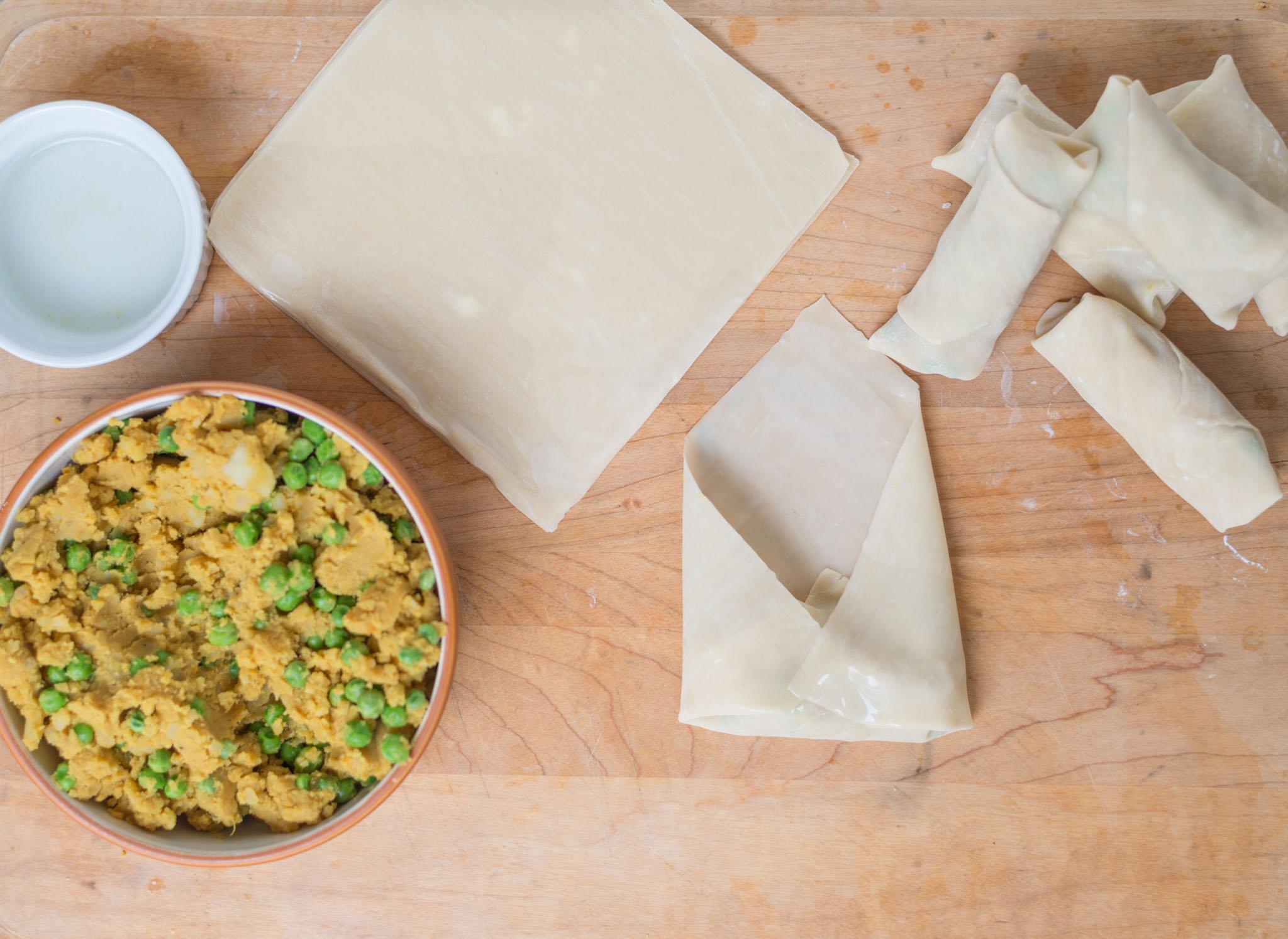 Mixed & Measured |Spiced Potato Pea Egg Rolls