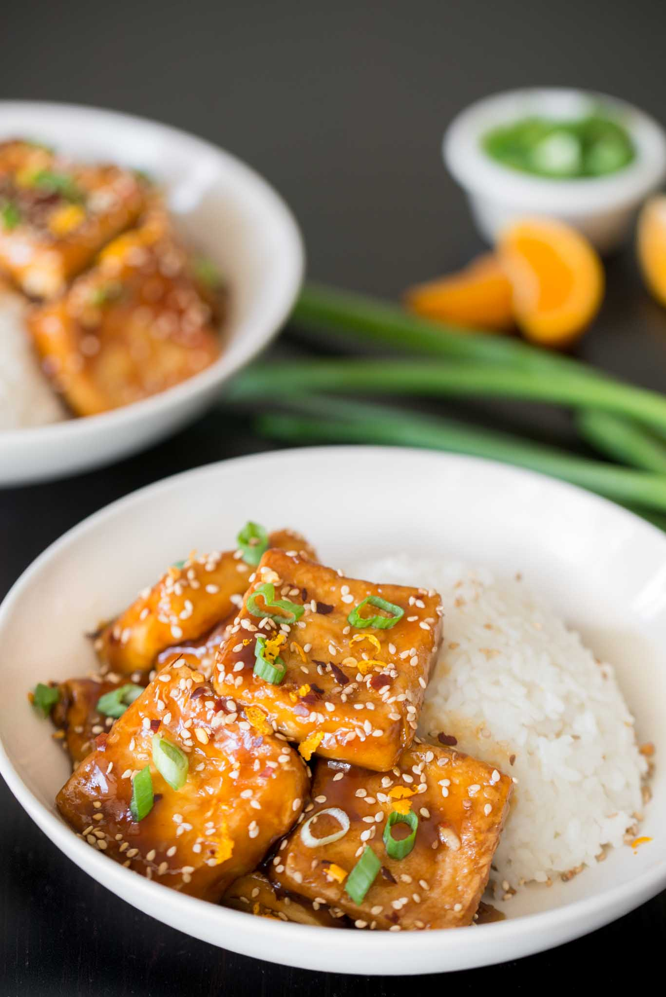 Mixed & Measured | Crispy Tofu with Sticky Tangerine Sauce