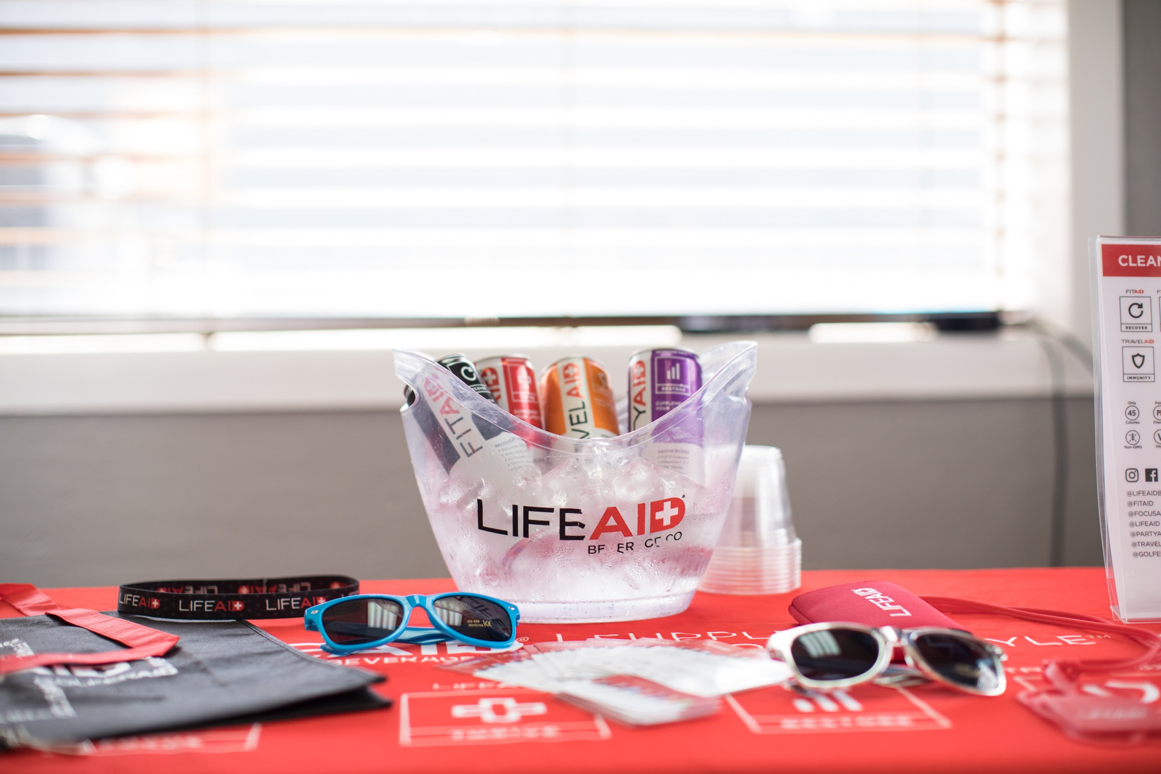 LIFEAid with the recovery drinks!