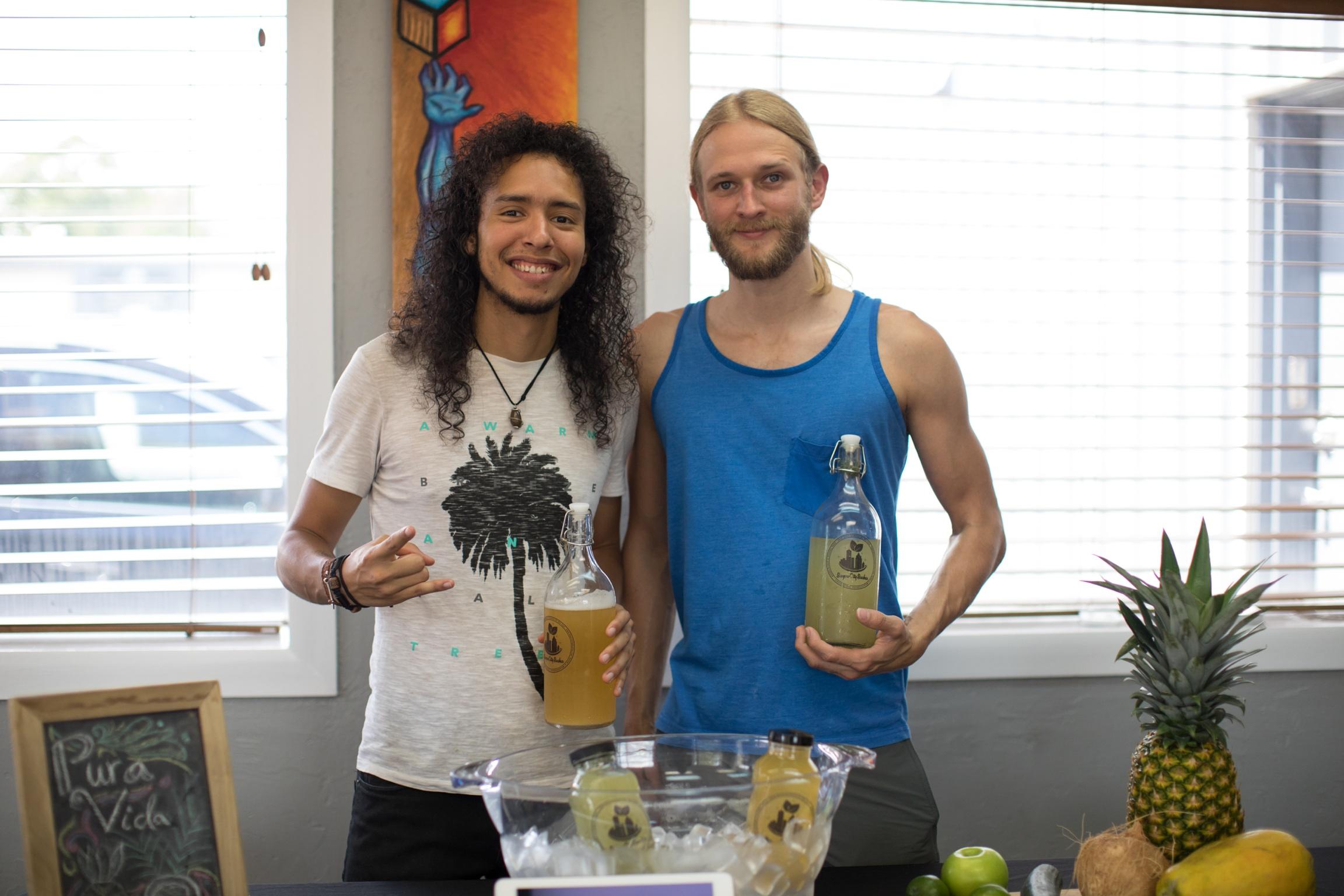 Danny and Blake, creators of Bayou City Bucha!