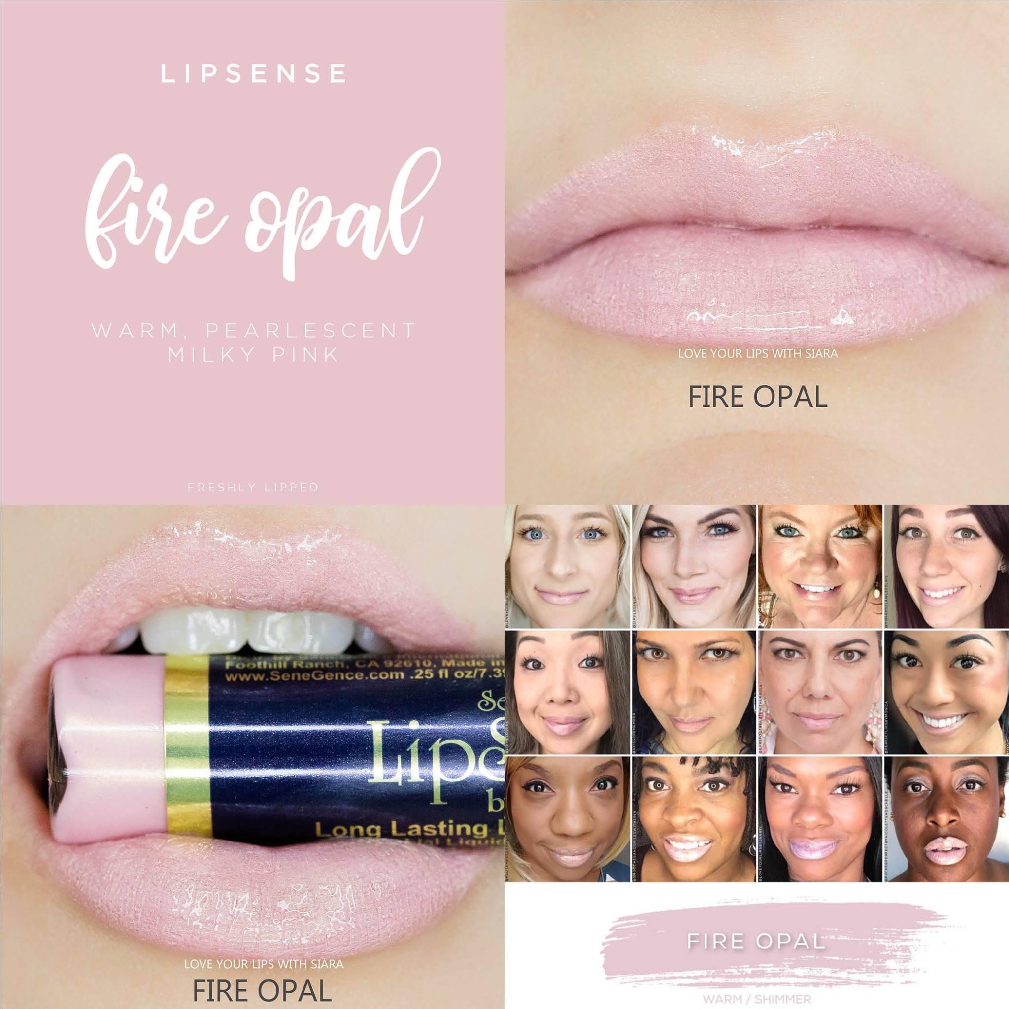 Fire Opal LipSense Collage
