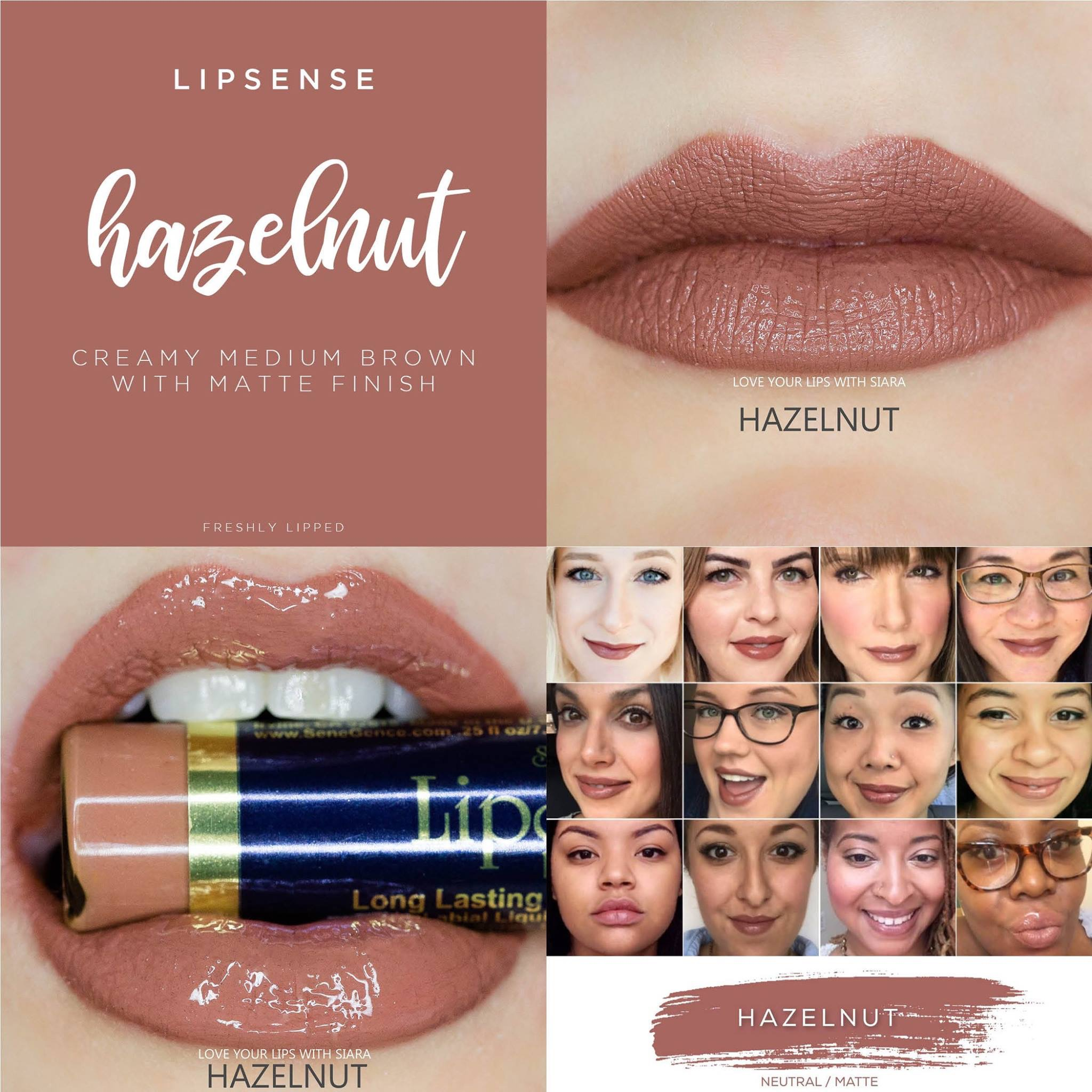 Hazelnut Lipsense Collage