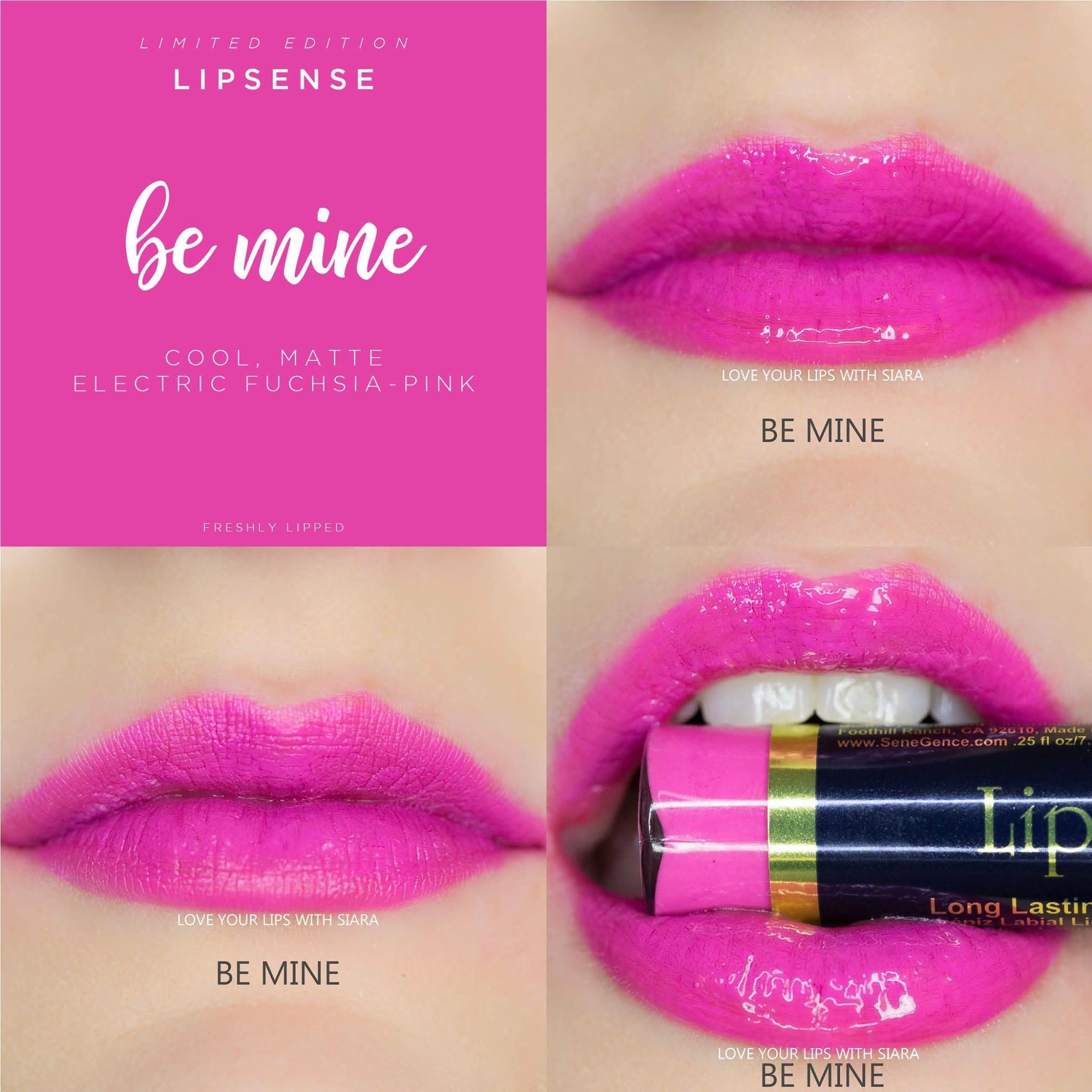 Be Mine LipSense Collage