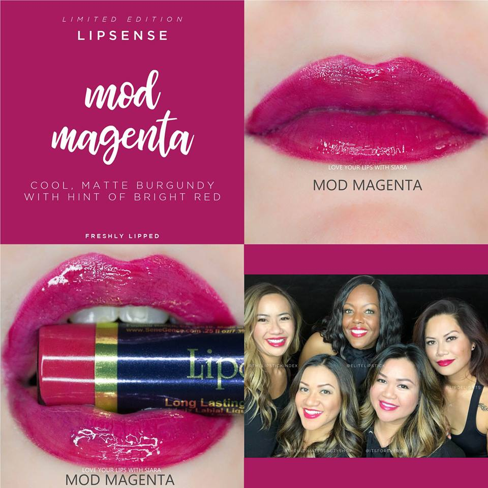 Mod Magenta LipSense Collage
