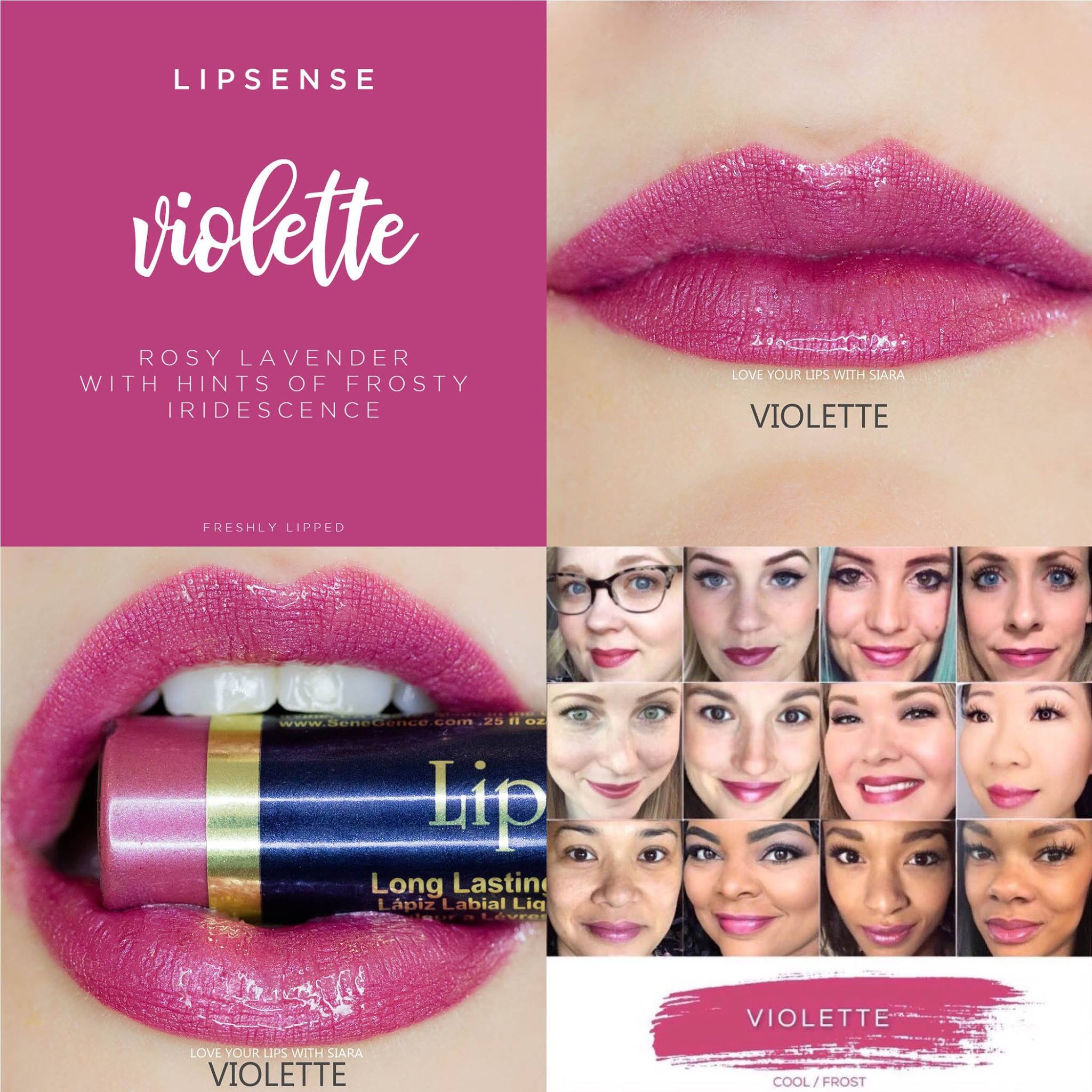 LipSense Violette Collage