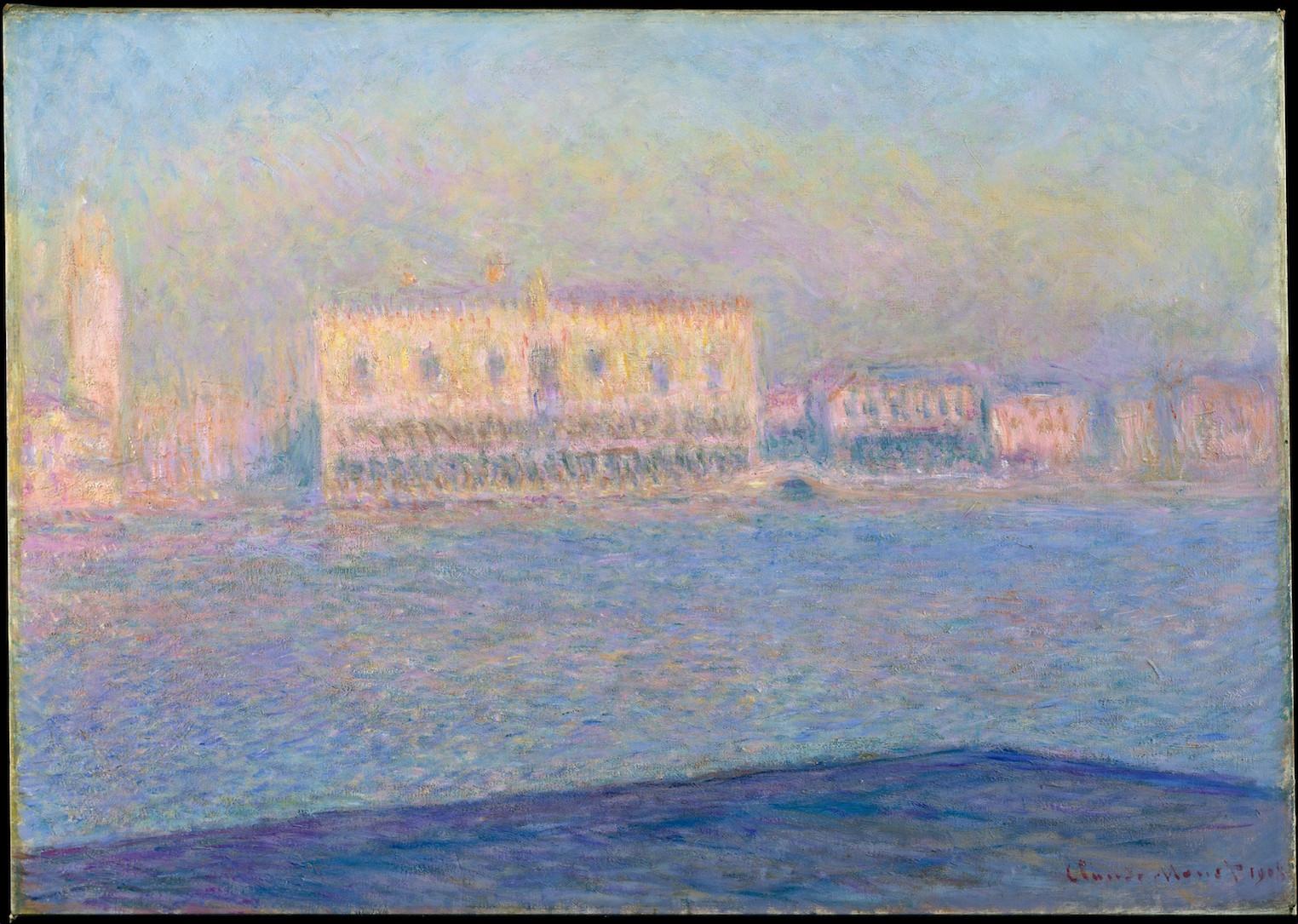 Le palais des Doges Vu de San Giorgio Maggiore, Claude Monnet