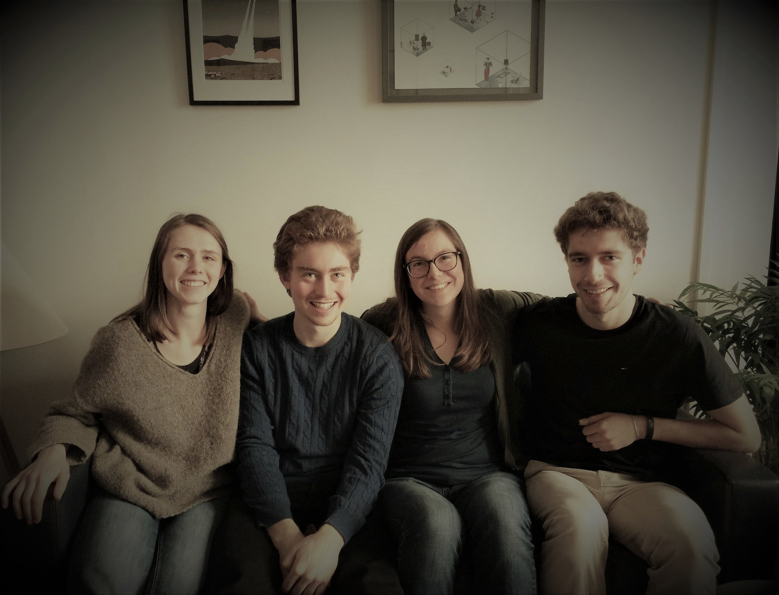 Vinciane, Corentin, Marie et Marin - quatre des étudiants à l'initiative du Manifeste étudiant pour un réveil écologique