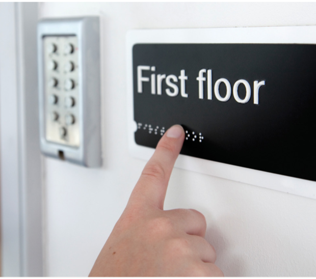While Braille sign-boards exist, there is no standardization of where they are placed.