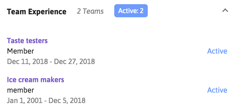 active teams drawer