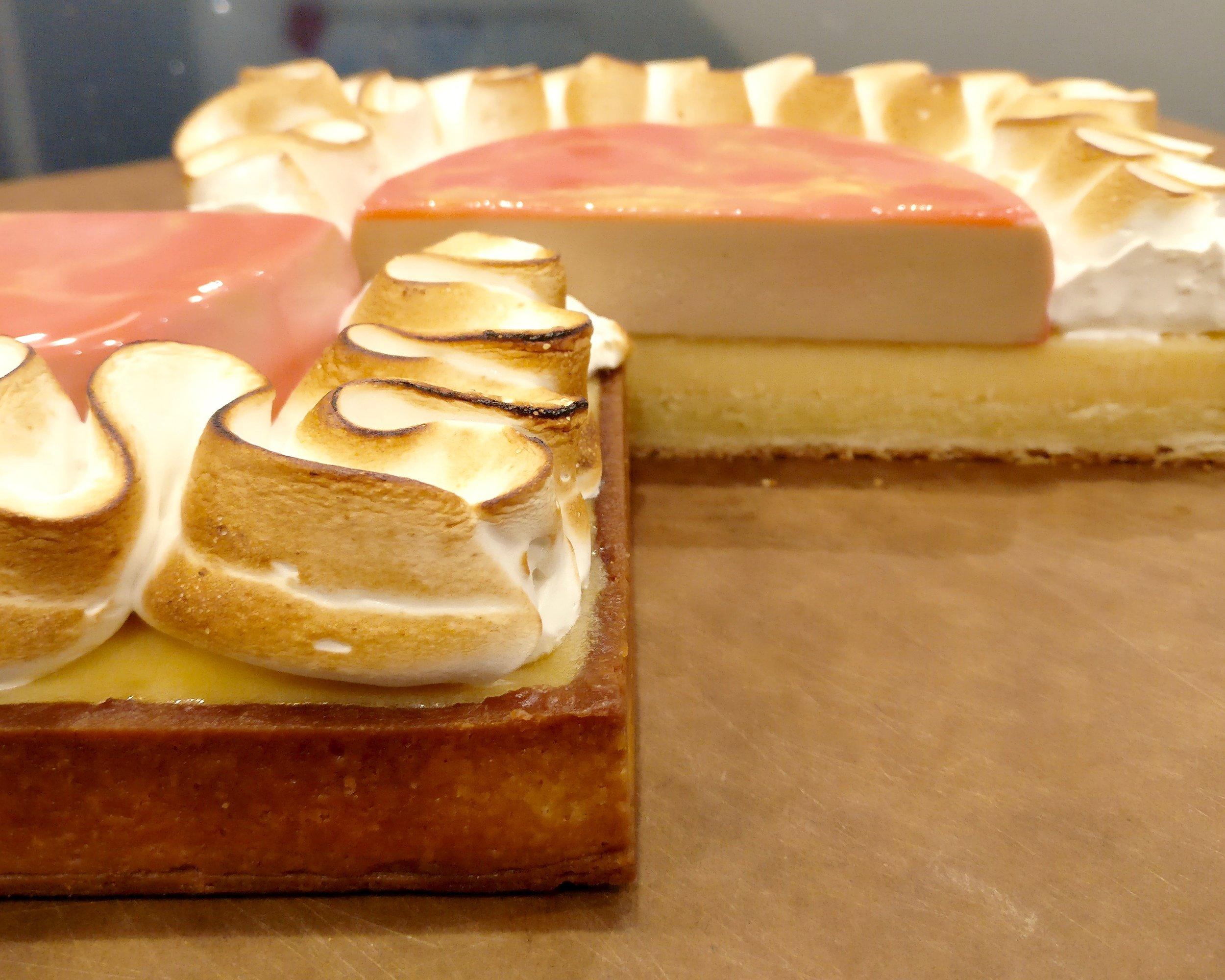Lemon tea tart made by Gusta Cooking Studio