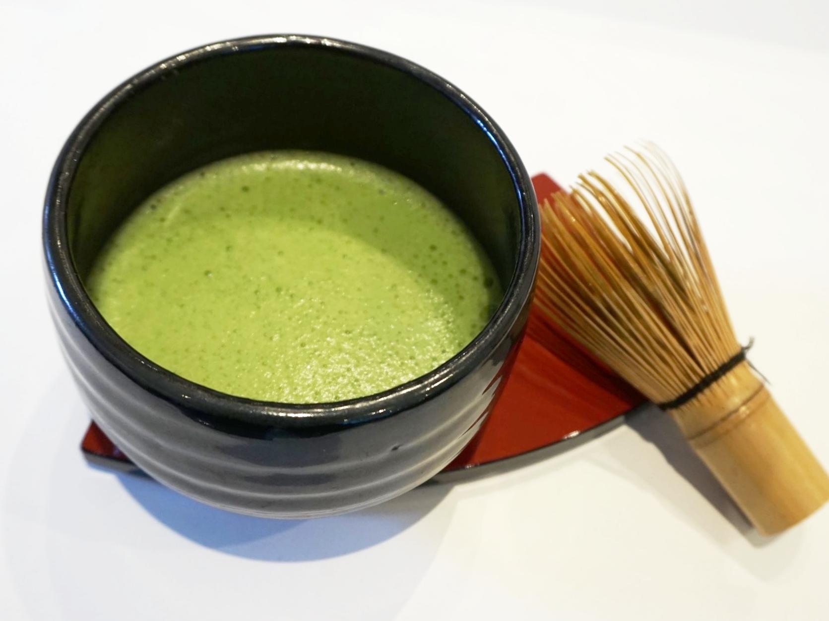 Matcha green tea tasting workshop at Gusta Cooking Studio