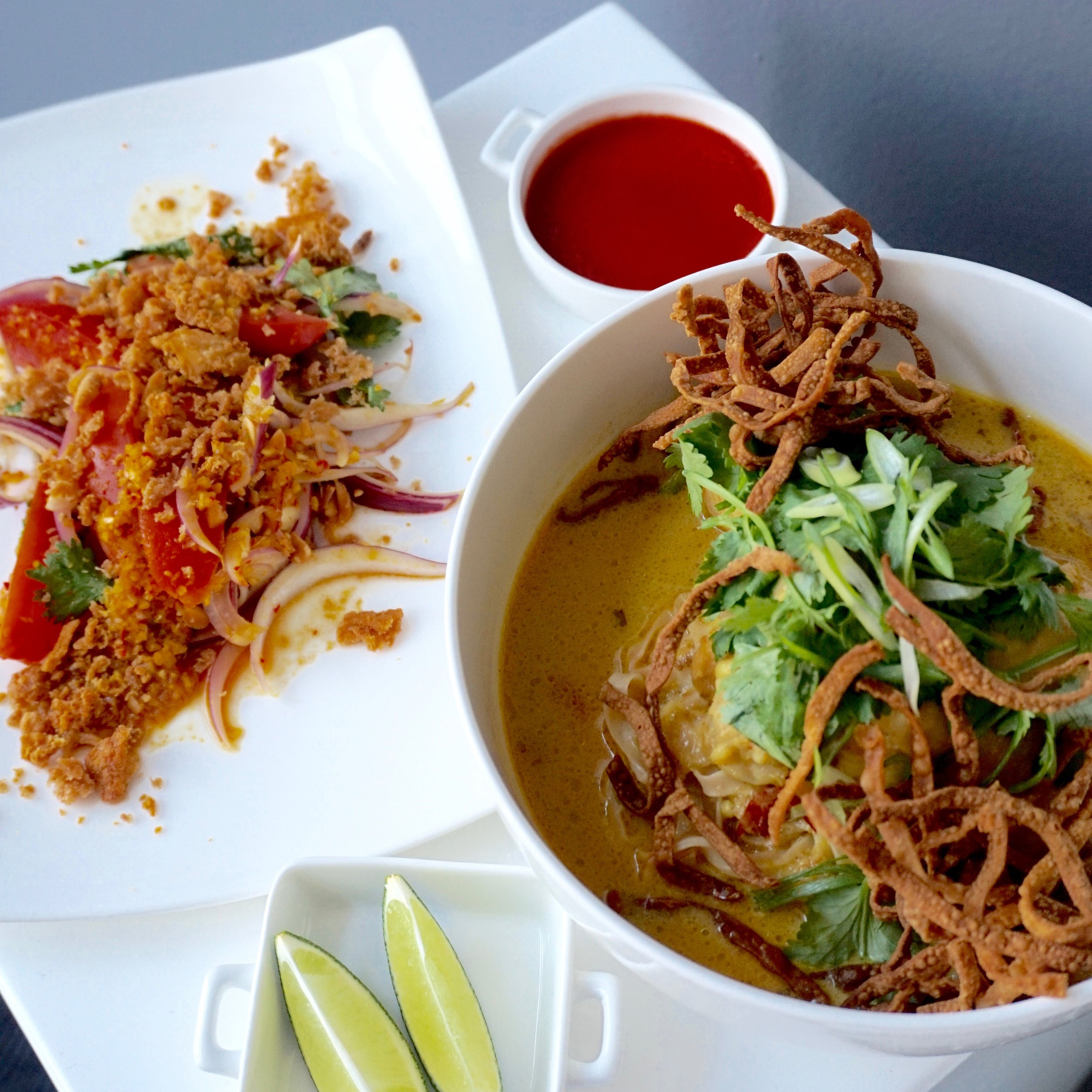 Khao Soi, Crispy Fish Salad