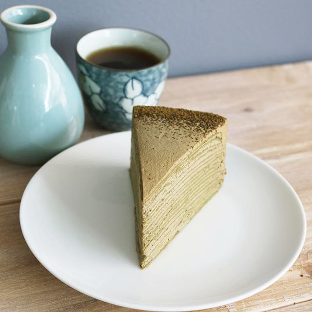 "Enjoy March's feature cake ""Millecrepe Hojicha""! . The afternoon tea at Lady Mendl's Tea Salon in Gramercy Park, New York, features fine teas and champagne cocktails, and nevertheless the 20-layer crepe cake that has now taken flight by you-know-who using only Elsie's initial.  Our labourious take is a creamy stack of crepes and chantilly full of flavourful roasted tea from Uji, Kyoto.  Simple, and actually handmade.  Order at www.gusta.ca/sweets or call 905-604-6040 . . . . . . #gustacooking #ほうじ茶ケーキ #millecrepe #millecrepecake #crepecake #crepecakes #millecrêpes #patisserie #patissier #ladymendls #pastrychef #frenchpastry #frenchpastries #hojicha #hojichacake #gustamarch"