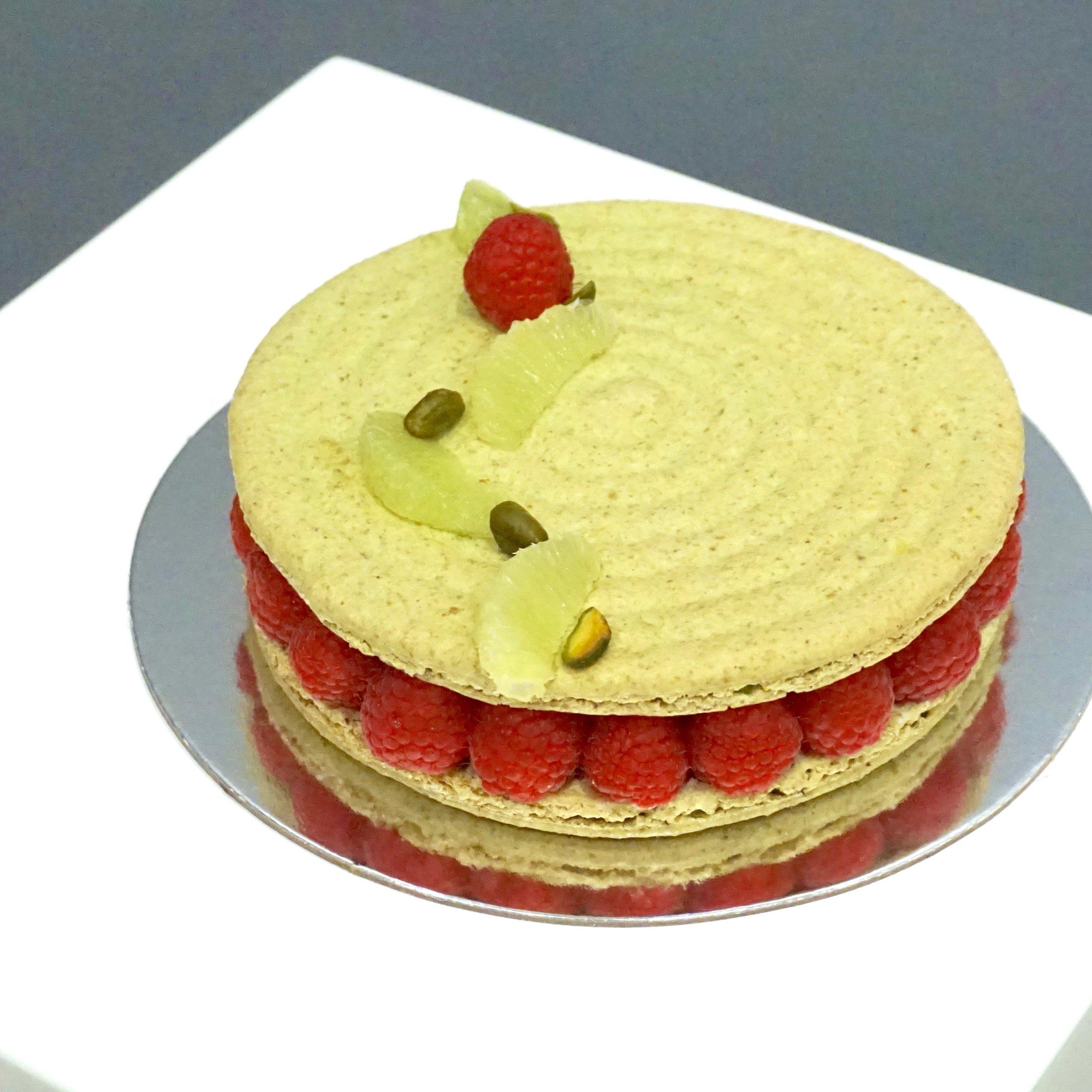Macaron Cake Pistachio Lime Raspberry.jpg