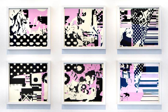 Untitled monoprint set, 2010