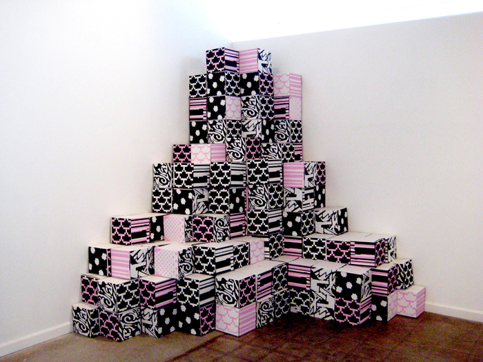 Bricks, 2010 (set of 100 screenprinted cardboard boxes)