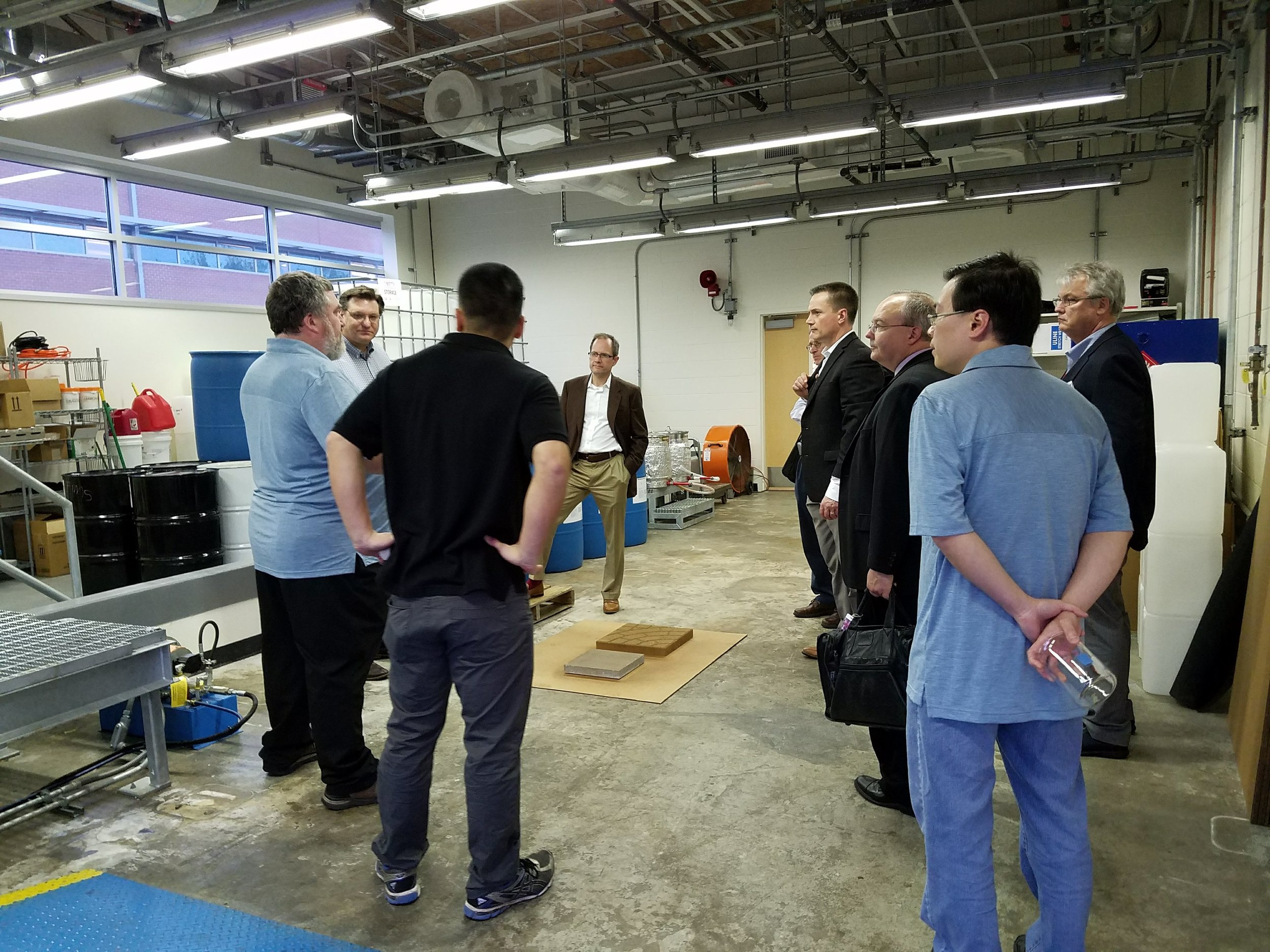 Prof. Shay Curran explaining Integricote's core technologies to the SHERWIN-WILLIAMS team.