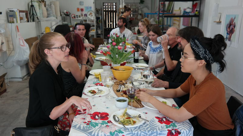 Community Dinner June 5, 2017 as part of  A Painter and a Performance Artist Walk Into a Bar
