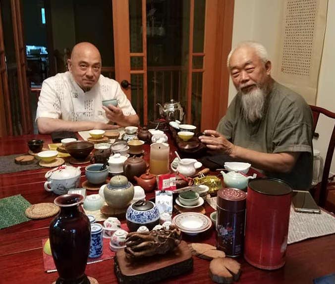 Sifu Ken Lo with his teacher Grandmaster Luo Chien Wu