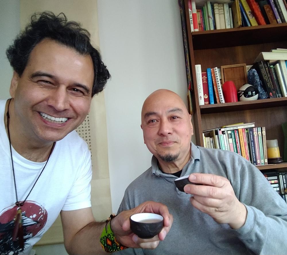 Ronen Divon with his teacher, Master Ken Lo