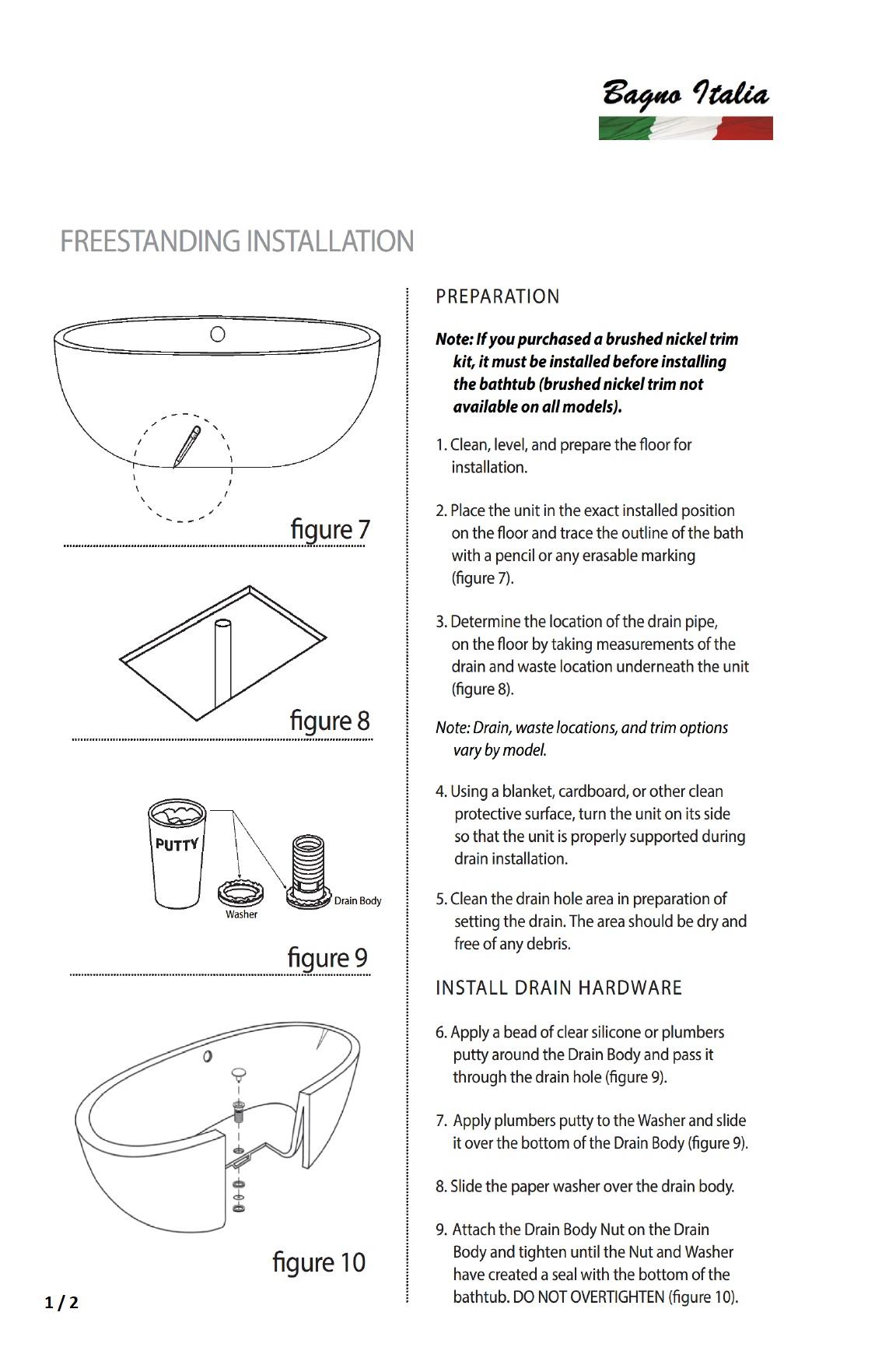 Installation Instructions 1 / 2