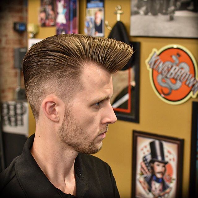 """Do the monkey with me""- Johnny Bravo This flattop boogie came out so sick styled up with @victorybrandproducts pomade! Im always down to give this haircut to any takers!! Snag your appointment for this week by booking on the @truenorthbarbershop website, calling the shop, or just shoot me a dm! Have a great week!"