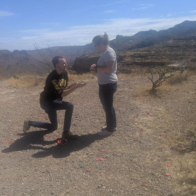 Today I took the love of my life up to the superstition mountains and asked her to spend the rest of her life with me. She said yes and we came down the mountain as fiancés! I love you 3000 Sydney ❤️❤️❤️