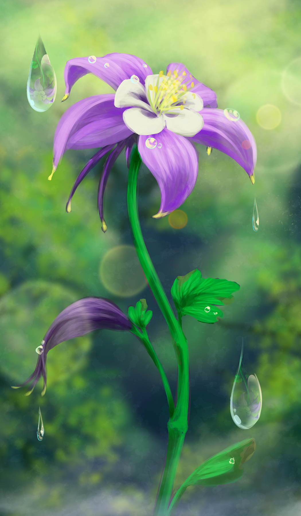 Columbine Flower for Tethys mother sm.png