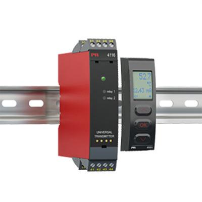 DIN Rail Universal Transmitter Model 4116Display Programming Front PR 4501 -