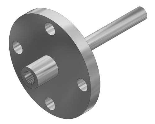 "Flanged Straight 0.385"" Bore Thermowell Model F32 (PDF) -"