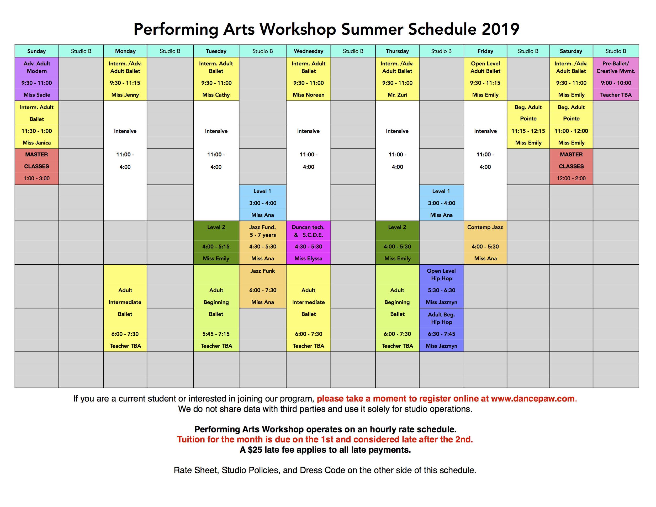 Performing Arts Workshop Summer Schedule 2019 FINAL TRUE.jpg