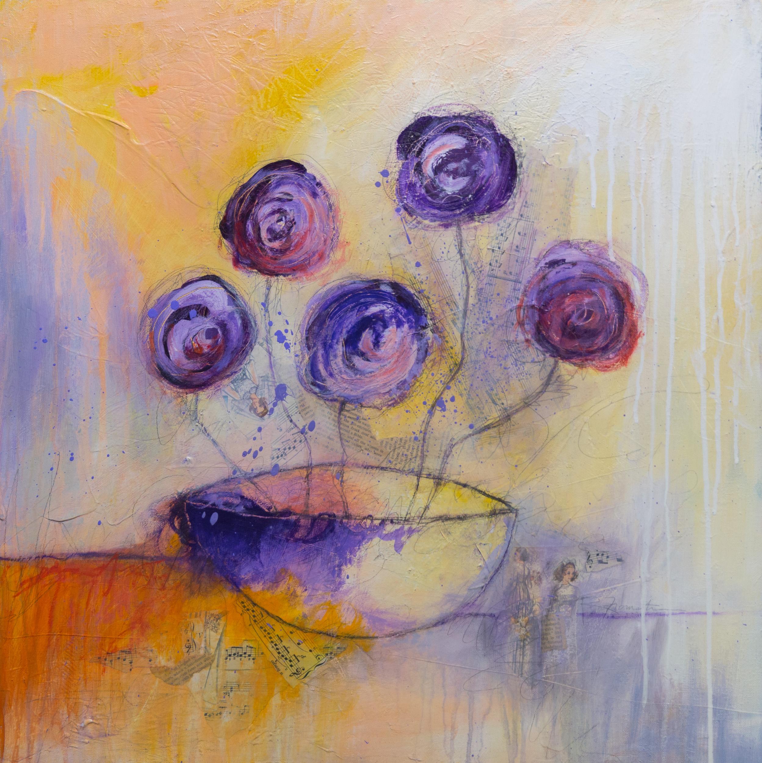 """""""Purple Flowers"""" 24x24"""