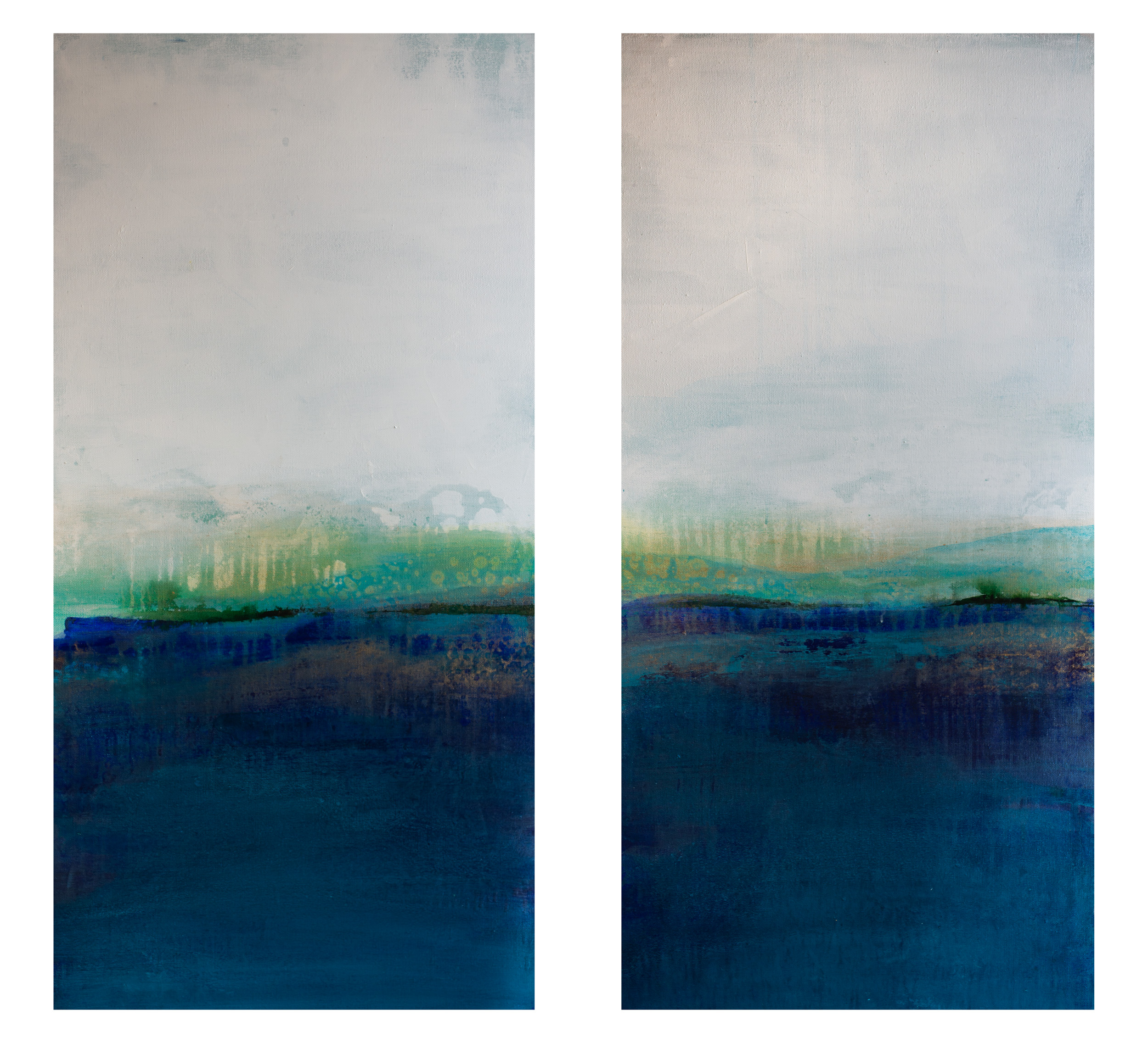 """Blue Attraction #1 & #2"" 18x36 each"