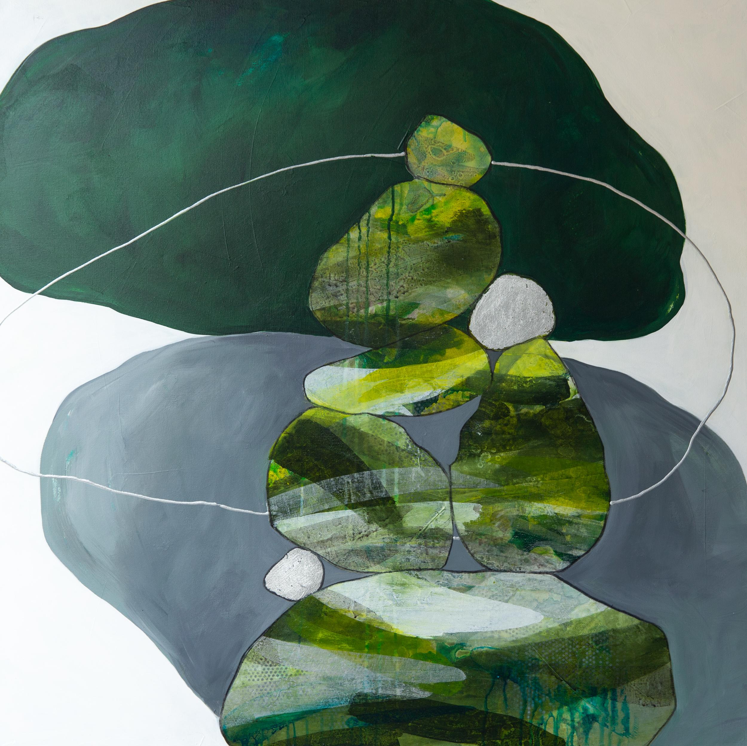 """""""Green Cairns II"""" 36x36"""