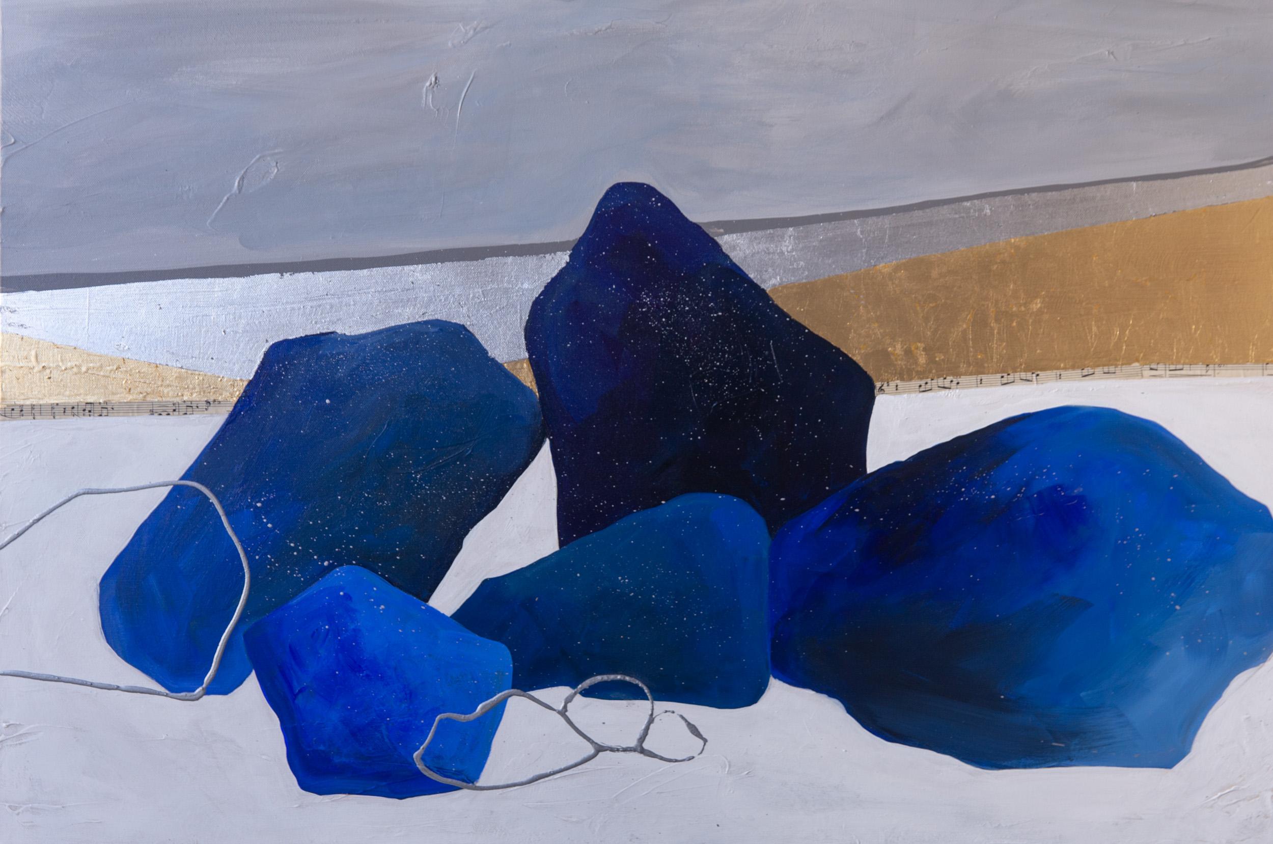"""""""Blue Boulders"""" 30x24"""