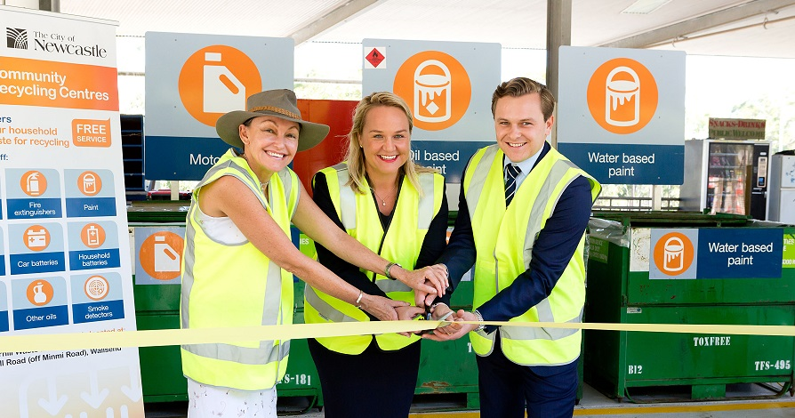 Opening our new Community Recycling Centre at Summerhill Waste Management Centre