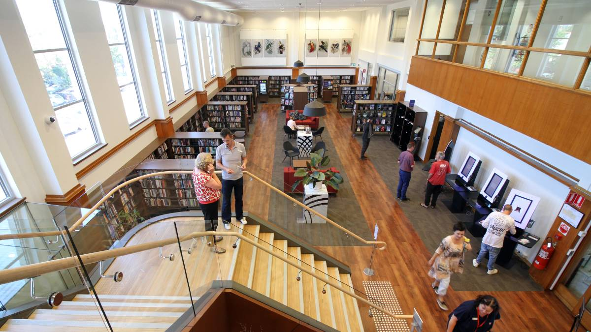 NATIONAL RECOGNITION: The $1.3 million transformation of the Newcastle Region Library has been nominated for a national design award.