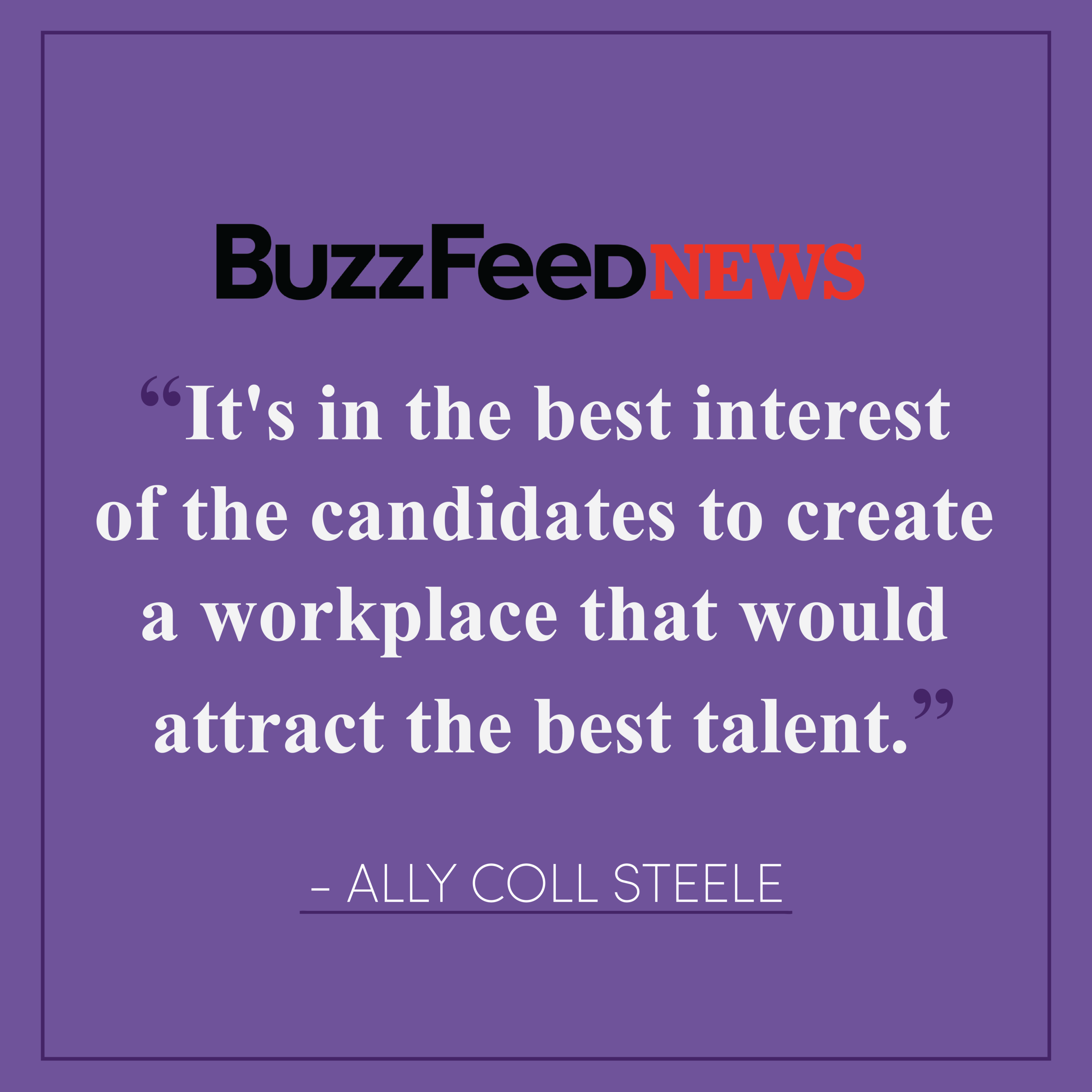 "2020 Campaigns Are Prioritizing Sexual Harassment Policies In Response To #MeToo - Purple Campaign President Ally Coll discusses how 2020 Presidential campaigns are focusing on workplace harassment in response to #MeToo. Read the full article here.""I do think that this is top of mind for everybody,"