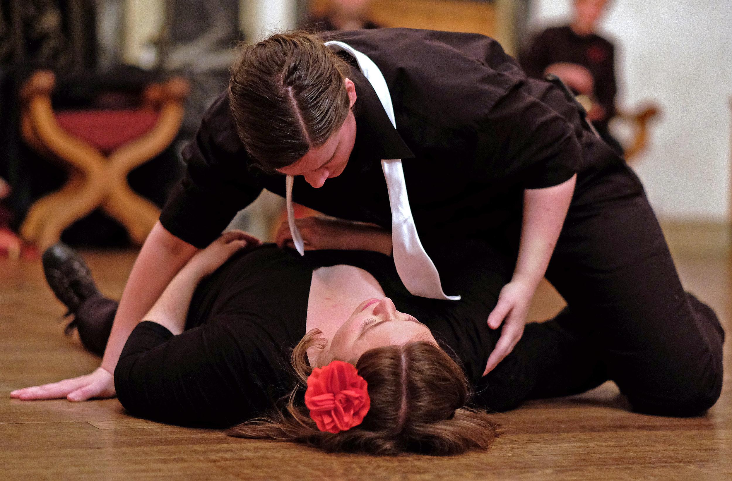 Romeo & Juliet  for Turning Glass Shakespeare  Juliet: Sarah Blackwell Romeo: Nicola Collett Photographer:  Norm Shafer