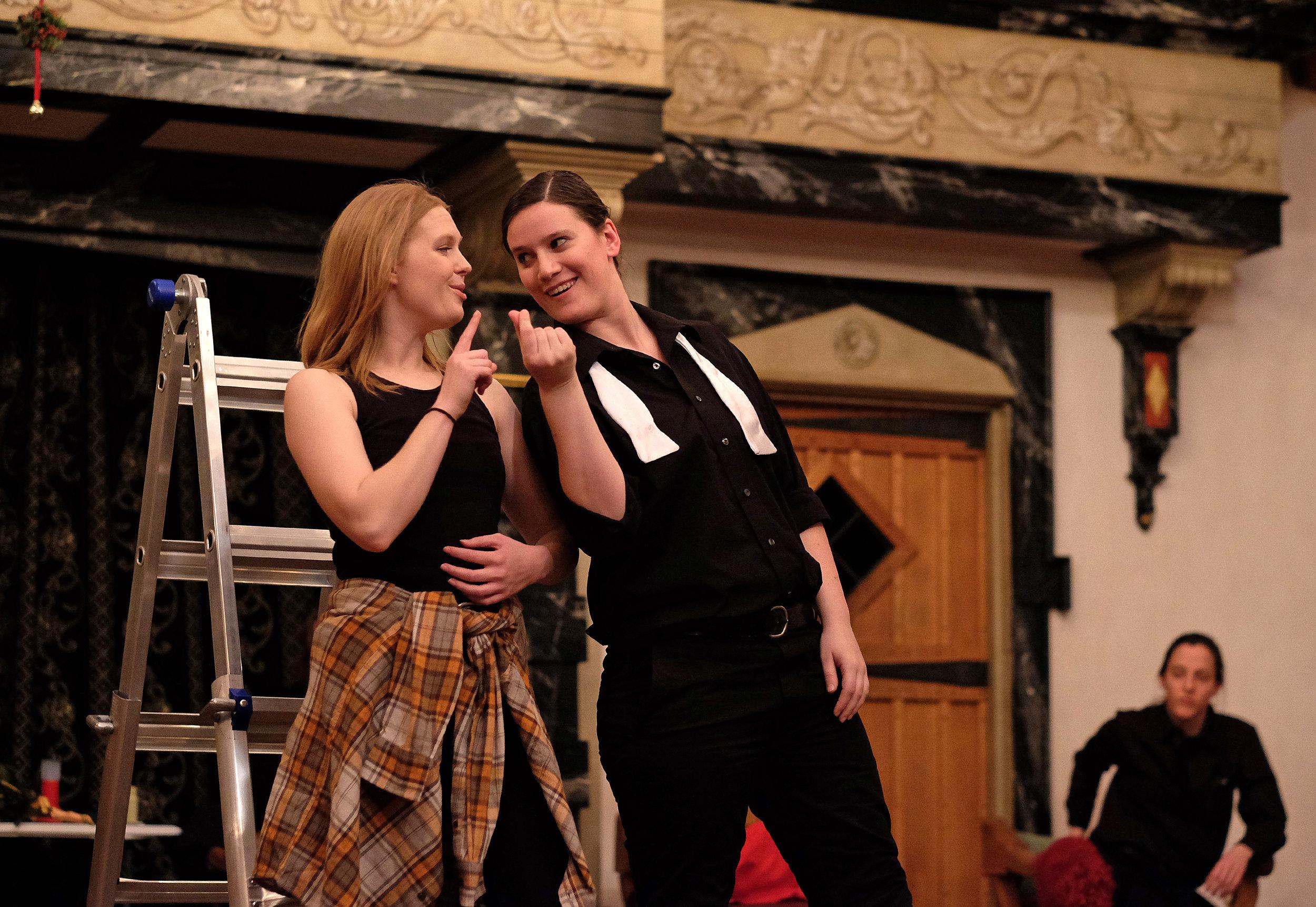 Romeo & Juliet  for Turning Glass Shakespeare  Mercutio: Amy Simpson Grubbs Romeo: Nicola Collett Photographer:  Norm Shafer